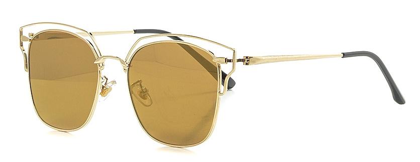 Очки солнцезащитные женские Vitta pelle, цвет: золотистый. 2802-2017-897INT-06501Степень защиты от ультрафиолетовых лучей - 400UV.