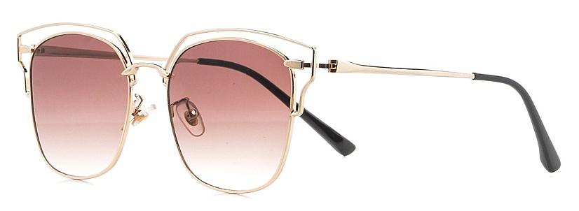 Очки солнцезащитные женские Vitta pelle, цвет: золотистый, розовый. 2802-2017-897BM8434-58AEСтепень защиты от ультрафиолетовых лучей - 400UV.
