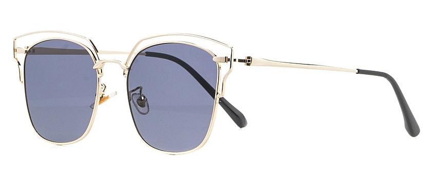 Очки солнцезащитные женские Vitta pelle, цвет: золотистый, черный. 2802-2017-8971-022_516Степень защиты от ультрафиолетовых лучей - 400UV.