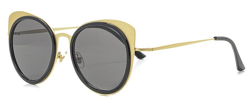 Очки солнцезащитные женские Vitta pelle, цвет: золотистый, черный. 2802-2017-916INT-06501Степень защиты от ультрафиолетовых лучей - 400UV.