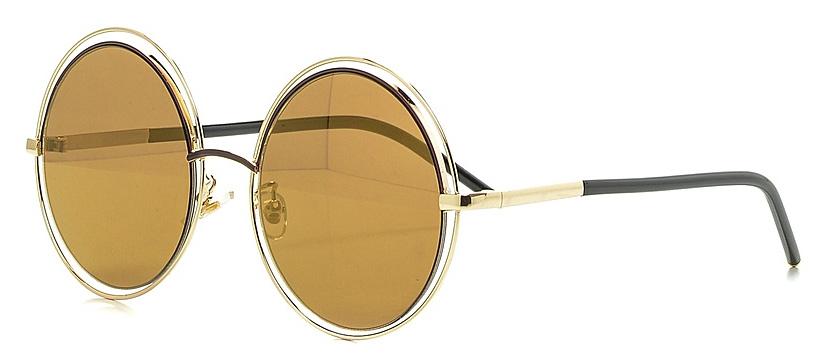 Очки солнцезащитные женские Vitta pelle, цвет: золотистый. 1301-2017-935BM8434-58AEСтепень защиты от ультрафиолетовых лучей - 400UV.