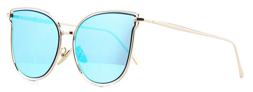 Очки солнцезащитные женские Vitta pelle, цвет: золотистый, голубой. 2802-2017-939BM8434-58AEСтепень защиты от ультрафиолетовых лучей - 400UV.