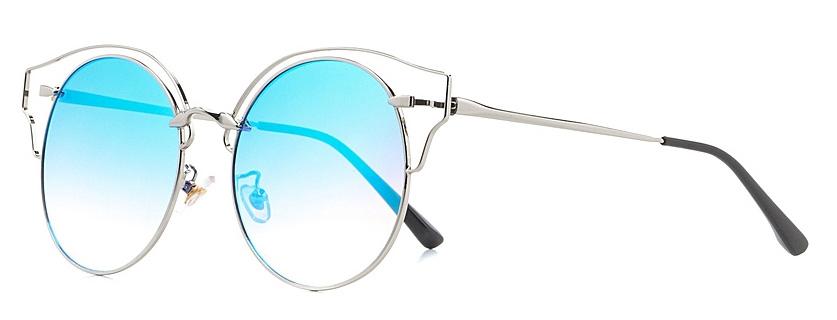 Очки солнцезащитные женские Vitta pelle, цвет: голубой. 2802-2017-970INT-06501Степень защиты от ультрафиолетовых лучей - 400UV.