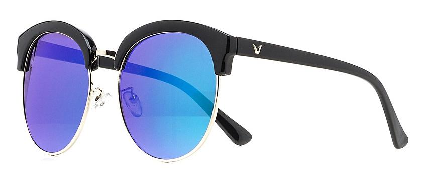 Очки солнцезащитные женские Vitta pelle, цвет: черный, синий. 1301-2017-5575BM8434-58AEСтепень защиты от ультрафиолетовых лучей - 400UV.