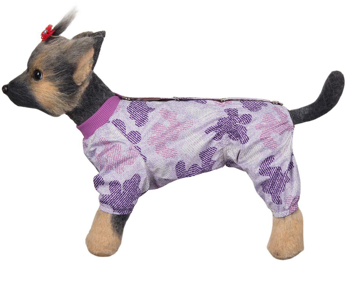 Комбинезон для собак Dogmoda  Мегаполис , для девочки, цвет: сиреневый. Размер 3 (L) - Одежда, обувь, украшения