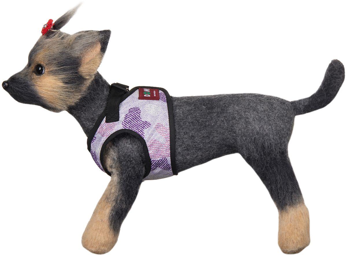 Шлейка для собак Dogmoda Мегаполис. Размер 2 (M)0120710Шлейка-жилет для собак Мегаполис предназначена для мелких и средних пород собак. В отличие от ошейника, она бережно охватывает шею и грудь питомца, не пережимая тело. Движения животного при этом не скованы, а наличие самой шлейки практически не ощущается.Изготовлена она из водооталкивающего полиэстера. Внутренний слой шлейки имеет сетчатую структуру.Мягкая ткань делает прогулки домашнего питомца комфортными и легкими, позволяет почувствовать свободу движения. Шлейка сделана в форме жилета, и имеет два вида застяжки- липучка с помощью которой можно отрегулировать объем и фастекс для крепления поводка.Шлейка подойдет как для девочек, так для мальчиков.