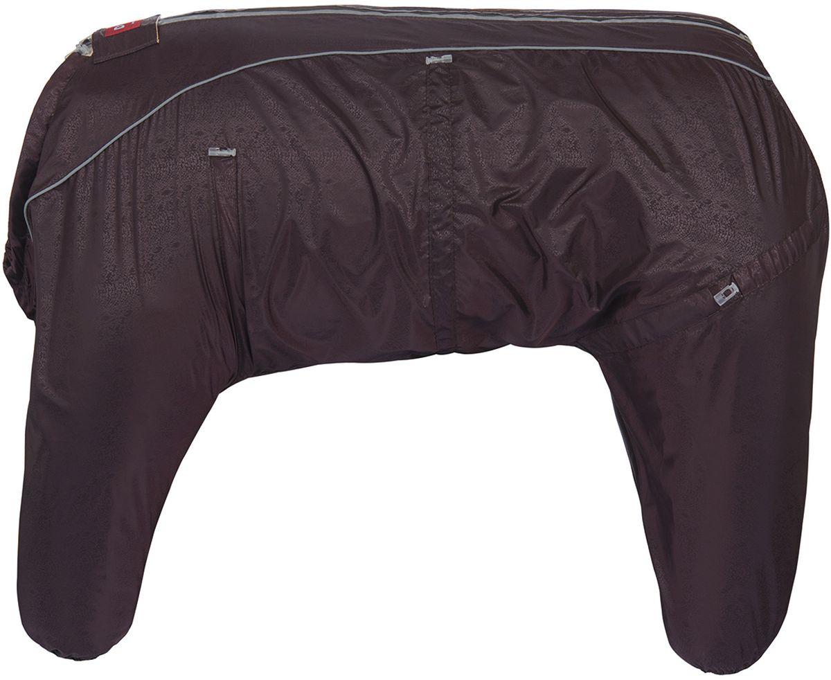 Комбинезон для собак Dogmoda Doggs Лайт, для девочки, цвет: бордовый. Размер 350120710Dogmoda представляет новинку в коллекции Doggs - Лайт. Комбинезон изготовлен из водоотталкивающей и ветрозащитной ткани, без подкладки, его можно одевать как и в дождливую так и в сухую погоду, защищая питомца от грязи и пыли. Главная особенность моделей Doggs - четыре затяжки-фиксатора, позволяющие одежде идеально садиться по фигуре, даже если она не является стандартной. Ваша собака все еще не любит одеваться? Познакомьте ее с Doggs!Особенности: -облегчающий процесс надевания и носки;-ничто не сковывает и не ограничивает свободу движений питомца;-одежда плотнее прилегает к телу и идеально садиться по фигуре;-полностью закрывается доступ сквознякам, холодному воздуху и влаге.Размер комбинезона Doggs соответствует длине спины от холки до хвоста. Спина 35 см, шея 56 см, грудь 68 см. Породы: фокстерьер, вельштерьер, лейкленд терьер, шиба ину, английский кокер, американский кокер, пудель малый, шелти, французкий бульдог, бигль.