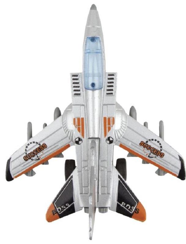 Autotime Самолет инерционный Junior Motors Super Air Fighter цвет серебристый оранжевый черный