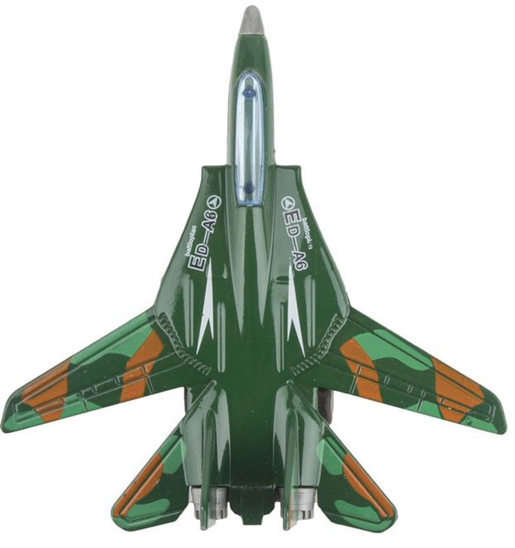 Autotime Самолет инерционный Junior Motors Attack Air Jet цвет темно-зеленый autotime машинка junior motors military sahara allroad