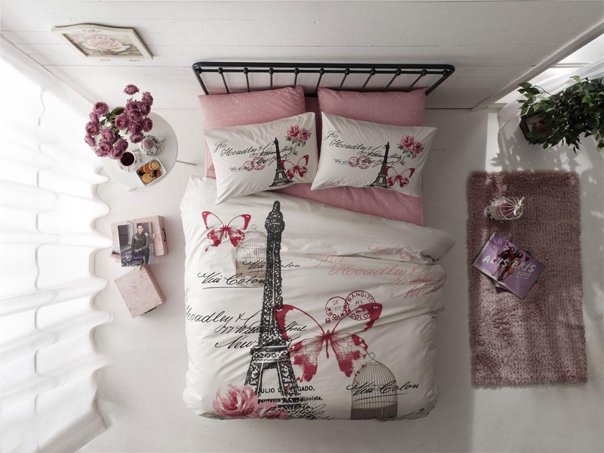 Комплект белья TAC Ranforce. Giselle, 1,5-спальный, наволочка 50х70, цвет: розовый391602Эталон сатина в России. Фирменные яркие дизайны Pano на нежной шелковистой фактуре сатиновой ткани из экологичного хлопка. Сатин - гладкая и прочная ткань, которая своим блеском, легкостью и гладкостью похожа на шелк, но выгодно отличается от него в цене. Сатин практически не мнется, поэтому его можно не гладить. Ко всему прочему, он весьма практичен, т.к. хорошо переносит множественные стирки. Если вы ценитель эстетики и практичности одновременно, безусловно, сатин для вас!