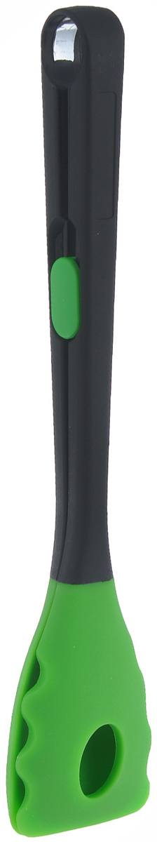 Щипцы универсальные Marmiton, цвет: зеленый, длина 26,5 см16137 зеленыйУниверсальные щипцы Marmiton, изготовленные из высококачественного пластика и силикона, идеально подойдут для сервировки и подачи блюд к столу. Материал устойчив к фруктовым кислотам, к воздействию низких и высоких температур. Щипцы оснащены фиксатором, что позволяет их удобно хранить в сложенном виде. Щипцы Marmiton займут достойное место среди аксессуаров на вашей кухне.Безопасны для посуды с антипригарным покрытием, а также из керамики, фарфора, полированной и нержавеющей стали. В комплект входит брошюра с рецептами. Можно мыть в посудомоечной машине.Длина щипцов: 26,5 см.