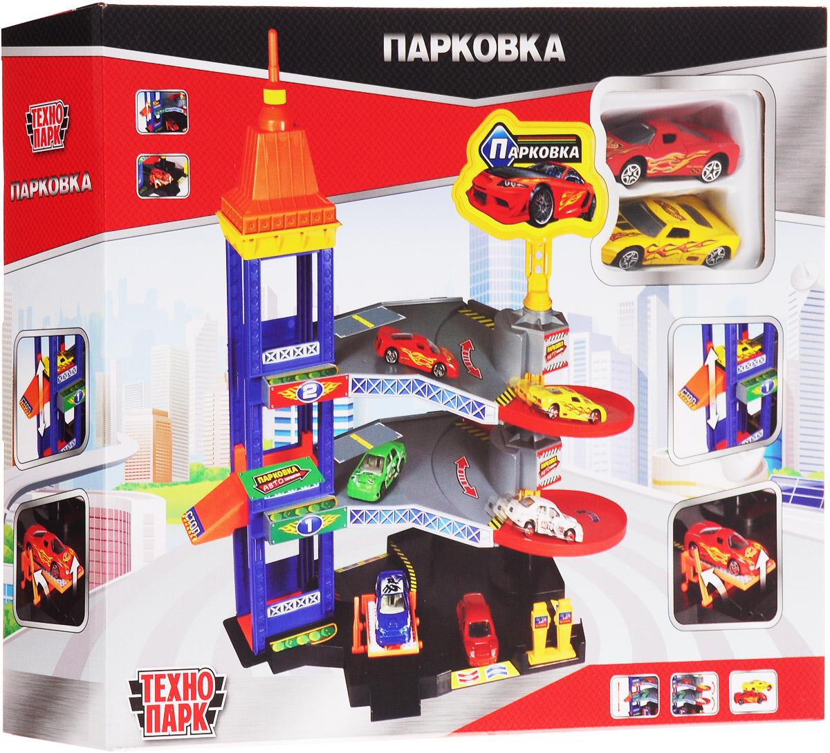 ТехноПарк Парковка 32524-R игровой набор технопарк парковка со спуском 33558 r