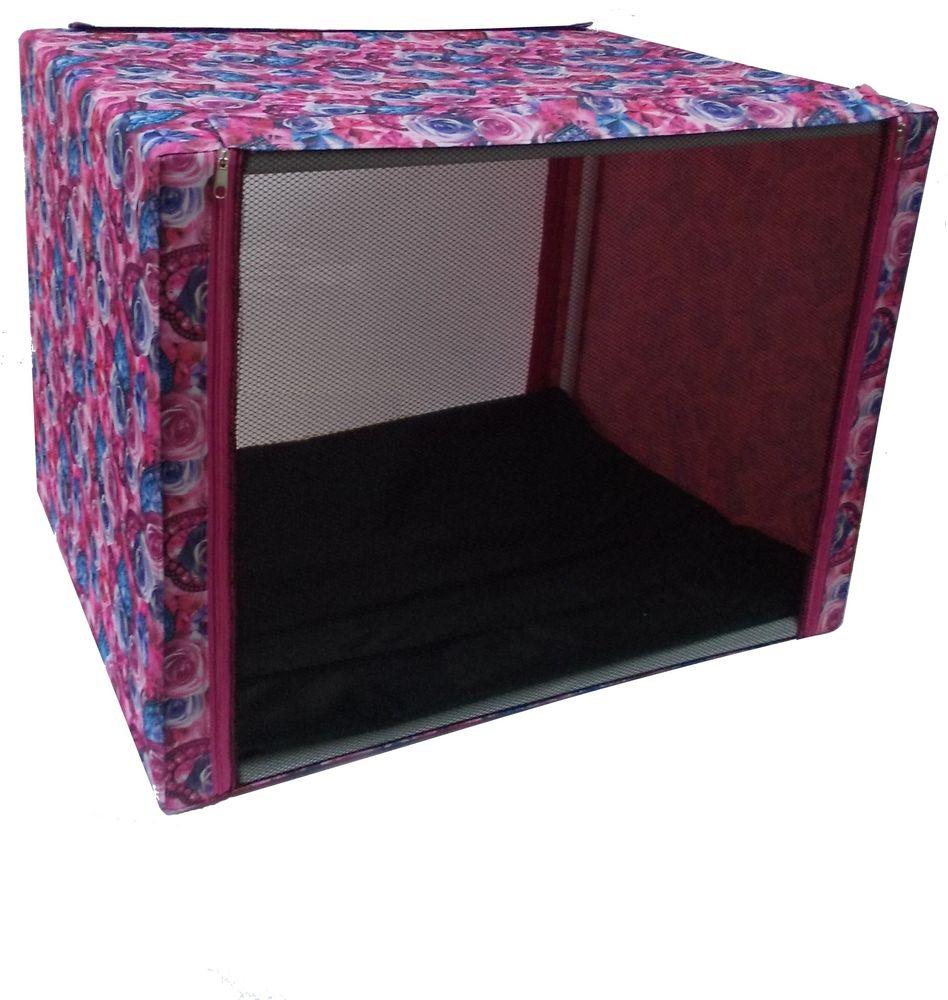 Палатка выставочная  Заря-плюс , с чехлом, цвет: розовый, сиреневый, 76 х 56 х 56 см - Переноски, товары для транспортировки
