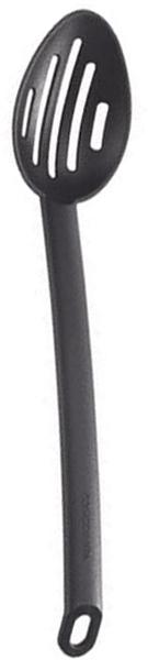 Ложка с отверстиями Tescoma. 63800654 009312Ложка с отверстиями Tescoma выполненная из жароупорного материала (до 210 °C), займет достойное место среди аксессуаров на Вашей кухне.Особенно она подойдет для приготовления блюд в посуде с антипригарным покрытием. Ложка не окрашивается в цвет продуктов и не впитывает запах.Характеристики:Длина: 33 см. Материал: нейлон. Производитель: Чехия. Артикул: 638006.