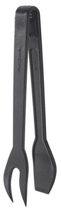 Щипцы с вилкой Tescoma. 63804354 009312Щипцы с вилкой Tescoma идеально подойдут для приготовления различных видов блюд и сервировки стола.Изготовленные из жароупорного материала, идеально подходят для всех видов посуды, особенно для посуды с антипригарным покрытие. Они станут незаменимым аксессуаром на вашей кухне. Характеристики: Материал: пластик. Длина: 25 см. Производитель: Чехия. Артикул: 638043.