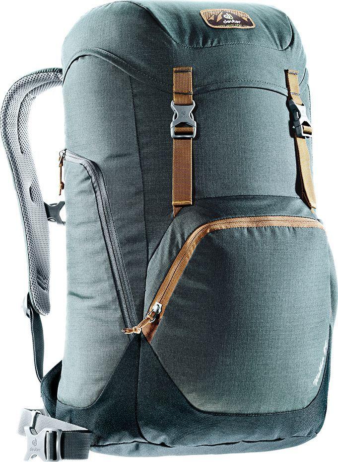 Рюкзак городской Deuter Walker, цвет: серый, черный, 24 лГризли- спинка Airstripes для великолепной вентиляции- очень комфортные, эргономичные, с мягкими краями плечевые лямки- отделение для документов- карабинчик для ключей- боковые карманы с эластичным, растягивающимся краем- внутренний карман для ценных вещей- большой накладной карман на молнии с органайзером для мобильного телефона, кошелька и т.д.- сменный, в ретро-стиле, съемный поясной ремень- большой накладной карман на молнии с органайзером для мобильного телефона, кошелька и т.д.- практичный карман-прорезь для ноутбука 15,6, добраться в который можно как через боковую молнию, так и изнутри.- съемный поясной ремень- закрывающийся боковой карман для мышки, кабеля и т.д.Вес: 780 гОбъем: 24 лРазмеры: 52 x 30 x 23 смМатериал: Ripstop-Polytex