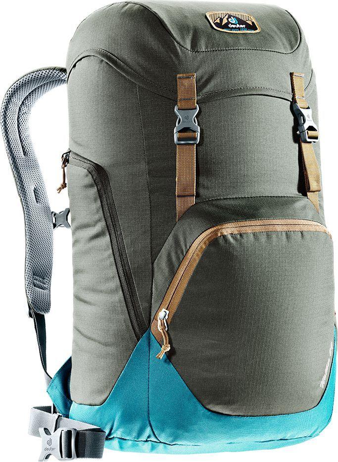 Рюкзак городской Deuter Walker, цвет: коричневый, синий, 24 л95429-924- спинка Airstripes для великолепной вентиляции- очень комфортные, эргономичные, с мягкими краями плечевые лямки- отделение для документов- карабинчик для ключей- боковые карманы с эластичным, растягивающимся краем- внутренний карман для ценных вещей- большой накладной карман на молнии с органайзером для мобильного телефона, кошелька и т.д.- сменный, в ретро-стиле, съемный поясной ремень- большой накладной карман на молнии с органайзером для мобильного телефона, кошелька и т.д.- практичный карман-прорезь для ноутбука 15,6, добраться в который можно как через боковую молнию, так и изнутри.- съемный поясной ремень- закрывающийся боковой карман для мышки, кабеля и т.д.Вес: 780 гОбъем: 24 лРазмеры: 52 x 30 x 23 смМатериал: Ripstop-Polytex