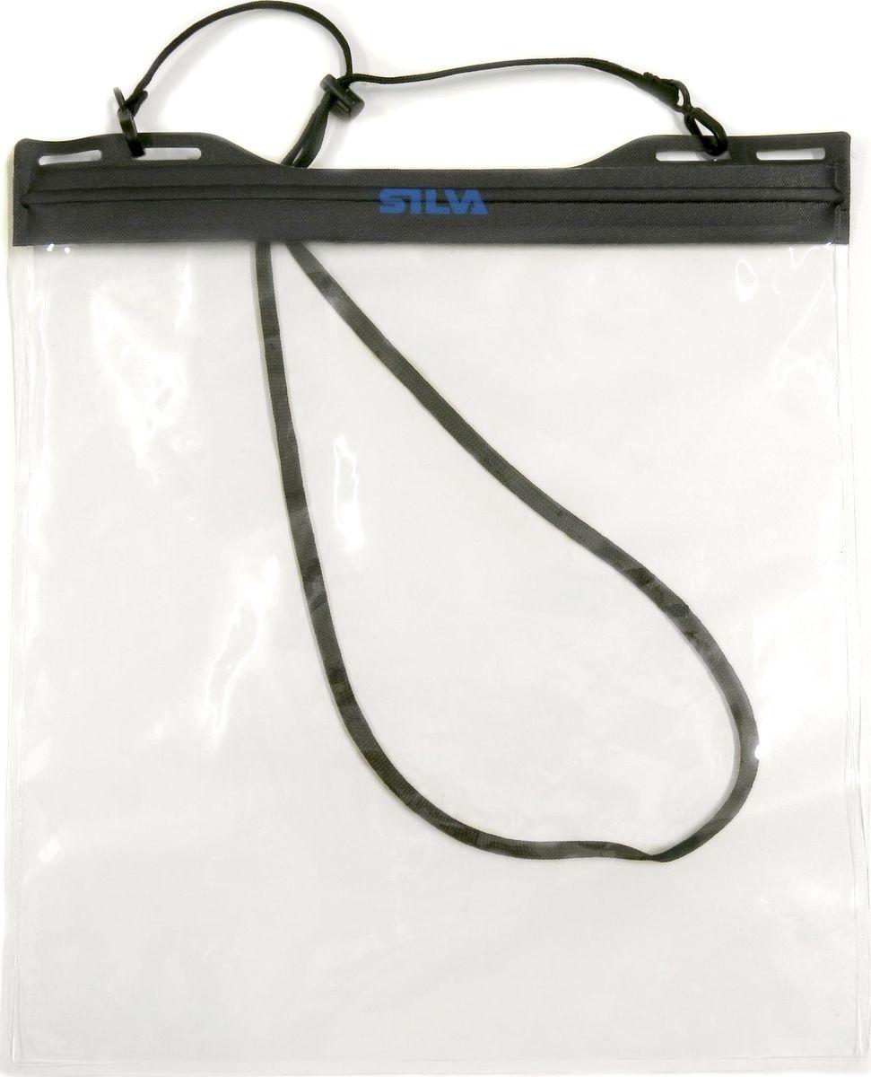 Гермочехол для телефона и документов Silva Carry Dry Case, цвет: черный. Размер M37501Герметичный чехол для телефона и документов-быстро и легко закрывается и открывается-шейный ремешок-размер 218?110 mm-вес 46 гр-материал TPU/PA