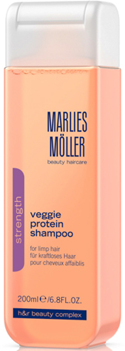 Marlies Moller Strength Шампунь для ослабленных волос, 200 мл21231MMШампунь рекомендуется для тонких и ослабленных волос. Коктейль из растительных протеинов обеспечивает локонам силу, гибкость, блеск, восстанавливает повреждения. В центре формулы - Гидролизированные растительные протеины, которые восстанавливают повреждения изнутри и обеспечивают идеальную защиту от внешних воздействий (расчесывания, использование фена, и т.д.), не утяжеляя волосы. Премиальный уход с профессиональным эффектом. Высокая концентрация активных компонентов. Мягкое средство без силиконов, позволяет частое применение.