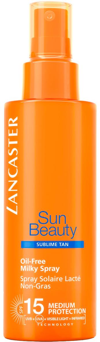 Lancaster Sun Beauty Care Молочко-спрей обезжиренное Великолепный загар spf 15, 150 мл40333113000Благодаря более совершенной защите кожа сохраняет свою красоту надолго. Загар становится золотистым, красивым и сохраняется длительное время, а кожа идеально увлажненная и шелковистая.