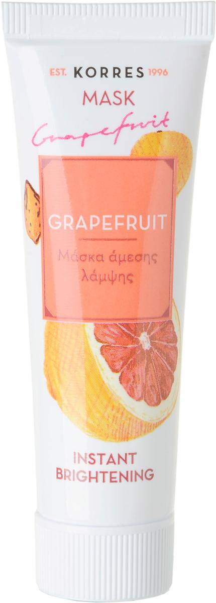 Korres Еженедельное очищение Маска для мгновенного улучшения цвета Грейпфрут, 16 мл72523WDОчищает и осветляет кожу с самого первого применения.