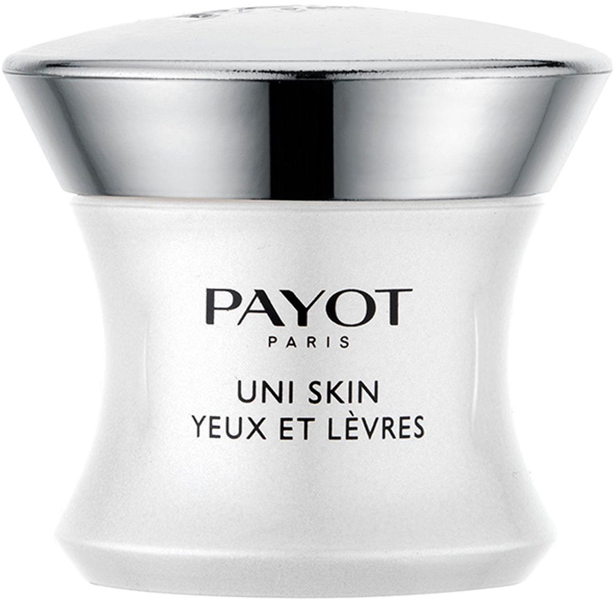 Payot Uni Skin Выравнивающий совершенствующий крем для области вокруг глаз и губ, 15 мл65109932Крем борется с нарушениями жизнедеятельности клеток, вызывающими изменения тона кожи (пигментные пятна, тусклый цвет лица, пятна от шрамов, покраснения). Возвращает сияние деликатной коже в области вокруг глаз и губ, заметно разглаживая и заполняя морщины. Без отдушек.