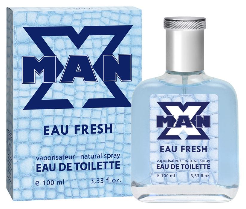 Apple Parfums Туалетная вода X Man Eau Fresh мужская 100ml974561Начальные ноты:лимон, бергамот, красное дерево, кардамон. Ноты сердца:перец, белый кедр, шалфей, артемизия. Базовые ноты:мускус, амбра, древесные ноты, шафран
