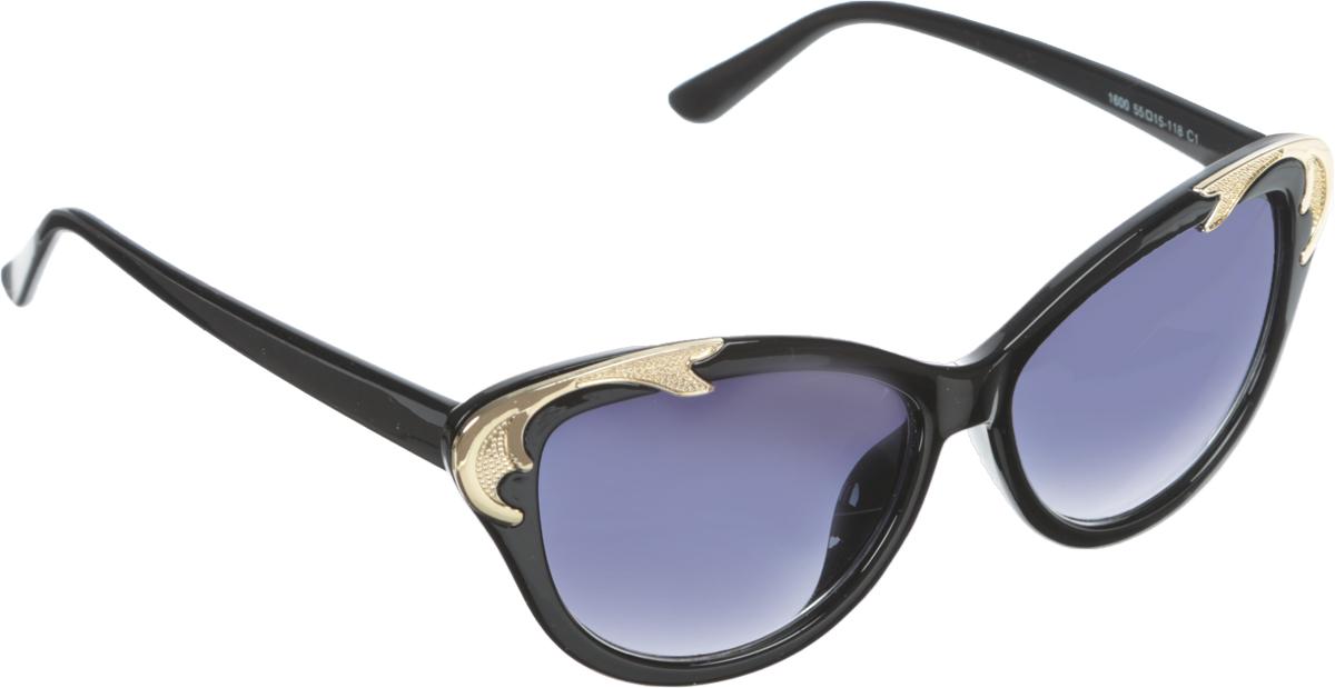 Очки солнцезащитные женские Vittorio Richi, цвет: черный. OC1899c2/17fBM8434-58AEСолнцезащитные очки Vittorio Richi выполнены из высококачественного пластика и металла, декорированы стразами. Пластик используемый при изготовлении линз не искажает изображение, не подвержен нагреванию и вредному воздействию солнечных лучей. Оправа очков легкая, прилегающей формы и поэтому обеспечивает максимальный комфорт. Такие очки защитят глаза от ультрафиолетовых лучей, подчеркнут вашу индивидуальность и сделают ваш образ завершенным.