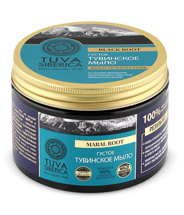 Natura Siberica Tuva Мыло для волос и тела густое тувинское, 500 млMP59.4DNatura Siberica TUVA мыло для волос и тела густое тувинское на основе чернокорня монгольского, тибетской мяты и саган-дайли — универсальное натуральное средство, обладающее превосходными очищающими и питательными свойствами. Благодаря оксикоричным кислотам и дубильным веществам чернокорень монгольский обладает противовоспалительными свойствами, регулирует липидный обмен и нежно очищает кожу и волосы. Тибетская мята (лофант) содержит комплекс биологически активных веществ, обладающих антисептическими и антиоксидантными свойствами и способствующих регенерации волос и тела. Саган-дайля — особый компонент, использовавшийся еще в древности в тибетской медицине. Она содержит гликозиды, органические кислоты и витамины, обеспечивающие питание и увлажнение кожи и волос. Все растительные компоненты мыла богаты эфирными маслами, дающими ощущение бодрости, свежести и сияния.
