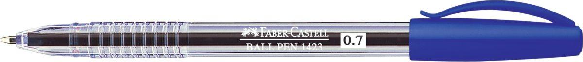 Faber-Castell Ручка шариковая 1423 синяя72523WD толщина линии 0,7 мм удобное и мягкое использование высококачественные чернила, не выцветают эргономичная форма длина письма: ~3000 м