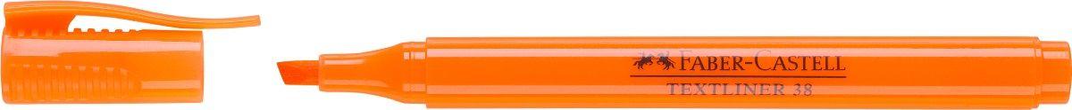 Faber-Castell Текстовыделитель 38 цвет оранжевый157715Текстовыделитель Faber-Castell станет незаменимым предметом, как на столе школьника, так и студента.Изделие имеет привлекательный полупрозрачный дизайн. Маркер со скошенным наконечником идеален для всех видов бумаги. Чернила на водной основе.Линия маркировки шириной 5, 2 или 1 мм.