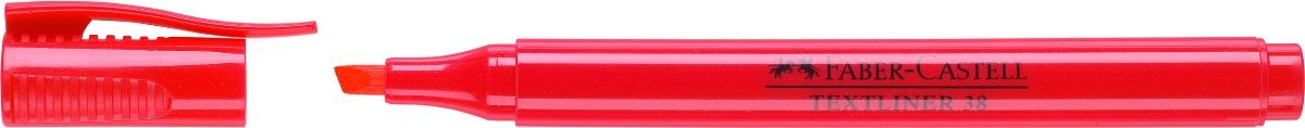 Faber-Castell Текстовыделитель 38 цвет красный157721Текстовыделитель Faber-Castell станет незаменимым предметом, как на столе школьника, так и студента.Изделие имеет привлекательный полупрозрачный дизайн. Он идеален для всех видов бумаги. Чернила на водной основе.Линия маркировки шириной 5, 2 или 1 мм.