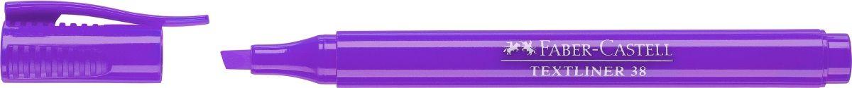 Faber-Castell Текстовыделитель 38 цвет фиолетовый157736Текстовыделитель Faber-Castell станет незаменимым предметом, как на столе школьника, так и студента.Изделие имеет привлекательный полупрозрачный дизайн. Он идеален для всех видов бумаги. Чернила на водной основе.Линия маркировки шириной 5, 2 или 1 мм.
