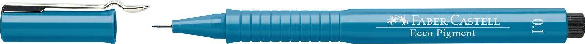 Faber-Castell Ручка капиллярная Ecco Pigment цвет синий 166151C13S041944 идеальны для письма, рисования, набросков пигментные черные чернила водо- и светоустойчивые позволяют рисование с линейкой и по шаблону длинный кончик с металлическим корпусом эргономичная область захвата металлический клип