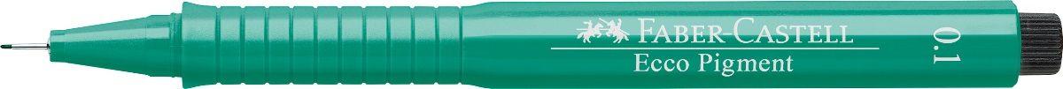 Faber-Castell Ручка капиллярная Ecco Pigment цвет зеленый 166163C13S041944 идеальны для письма, рисования, набросков пигментные черные чернила водо- и светоустойчивые позволяют рисование с линейкой и по шаблону длинный кончик с металлическим корпусом эргономичная область захвата металлический клип