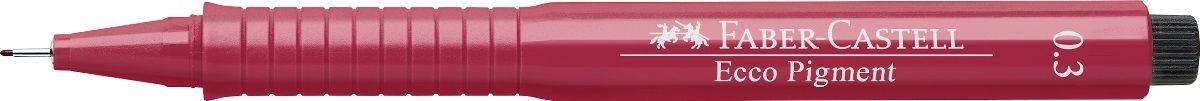 Faber-Castell Ручка капиллярная Ecco Pigment цвет красный 1663210703415 идеальны для письма, рисования, набросков пигментные черные чернила водо- и светоустойчивые позволяют рисование с линейкой и по шаблону длинный кончик с металлическим корпусом эргономичная область захвата металлический клип