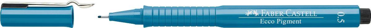 Faber-Castell Ручка капиллярная Ecco Pigment цвет синий 16655172523WD идеальны для письма, рисования, набросков пигментные черные чернила водо- и светоустойчивые позволяют рисование с линейкой и по шаблону длинный кончик с металлическим корпусом эргономичная область захвата металлический клип 9 типов толщины линии
