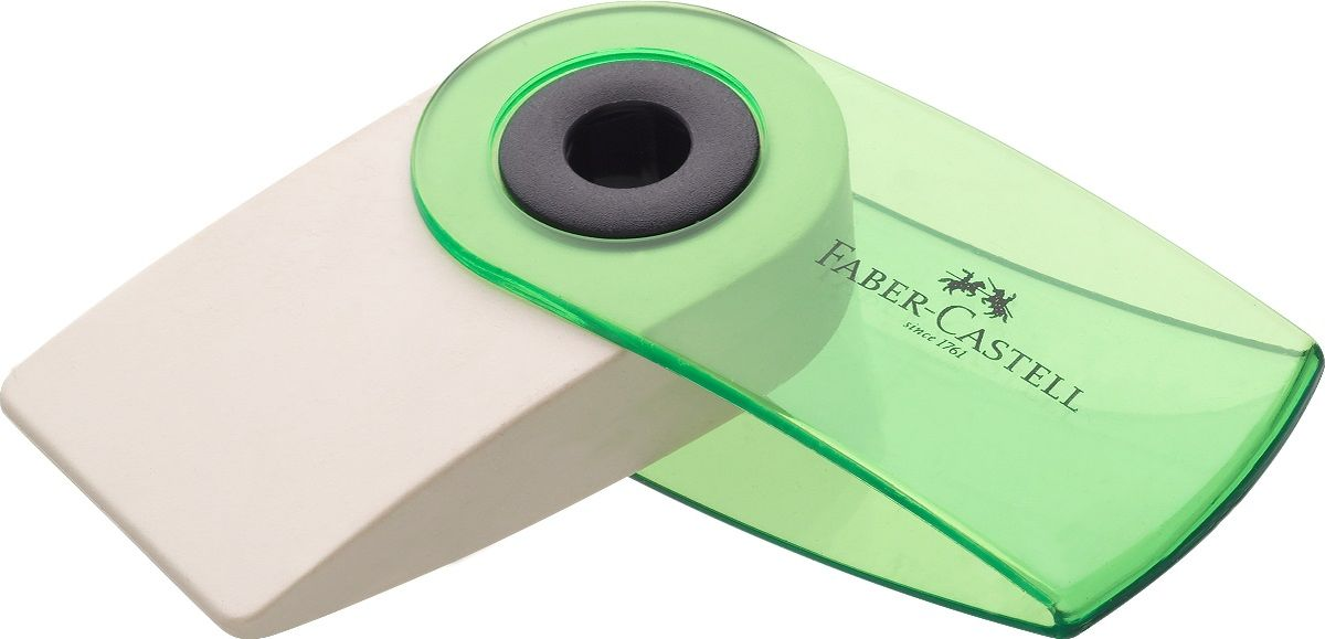 Faber-Castell Ластик Sleeve Mini72523WDЛастик Faber-Castell Sleeve Mini имеет эргономичную форму. Пластиковый подвижный колпачок защищает ластик от загрязнения.Ластик не содержит ПВХ. Три трендовых цвета в ассортименте.Уважаемые клиенты!Обращаем ваше внимание на цветовой ассортимент товара. Поставка осуществляется в зависимости от прихода товара на склад.