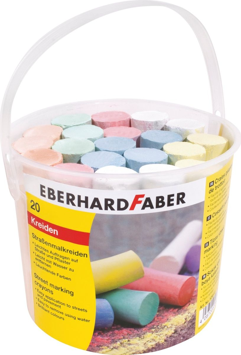 Eberhard Faber Мелки цветные круглые 20 цветов