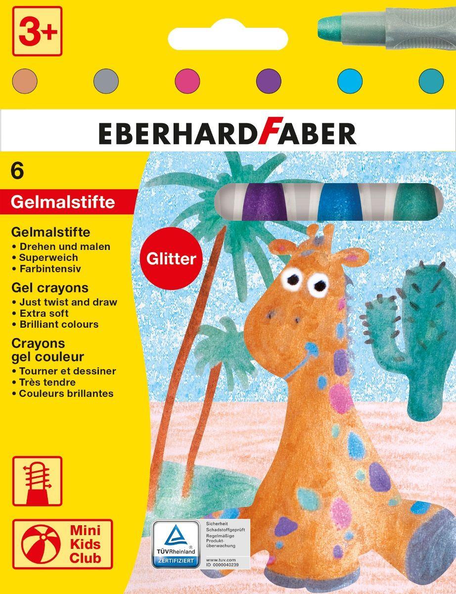 Eberhard Faber Набор гелевых маркеров неоновые 6 цветов1050519Набор гелевых маркеров Eberhard Faber - уникальный продукт, отличающийся ярким, насыщенным цветом, повышенной мягкостью. Специальный поворотный механизм дозированно подает гелевый мелок, а пластиковый корпус защищает его от поломок.