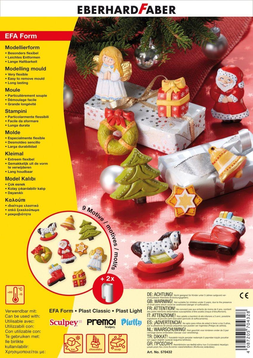 Eberhard Faber Набор формочек для лепки Рождество -  Пластилин