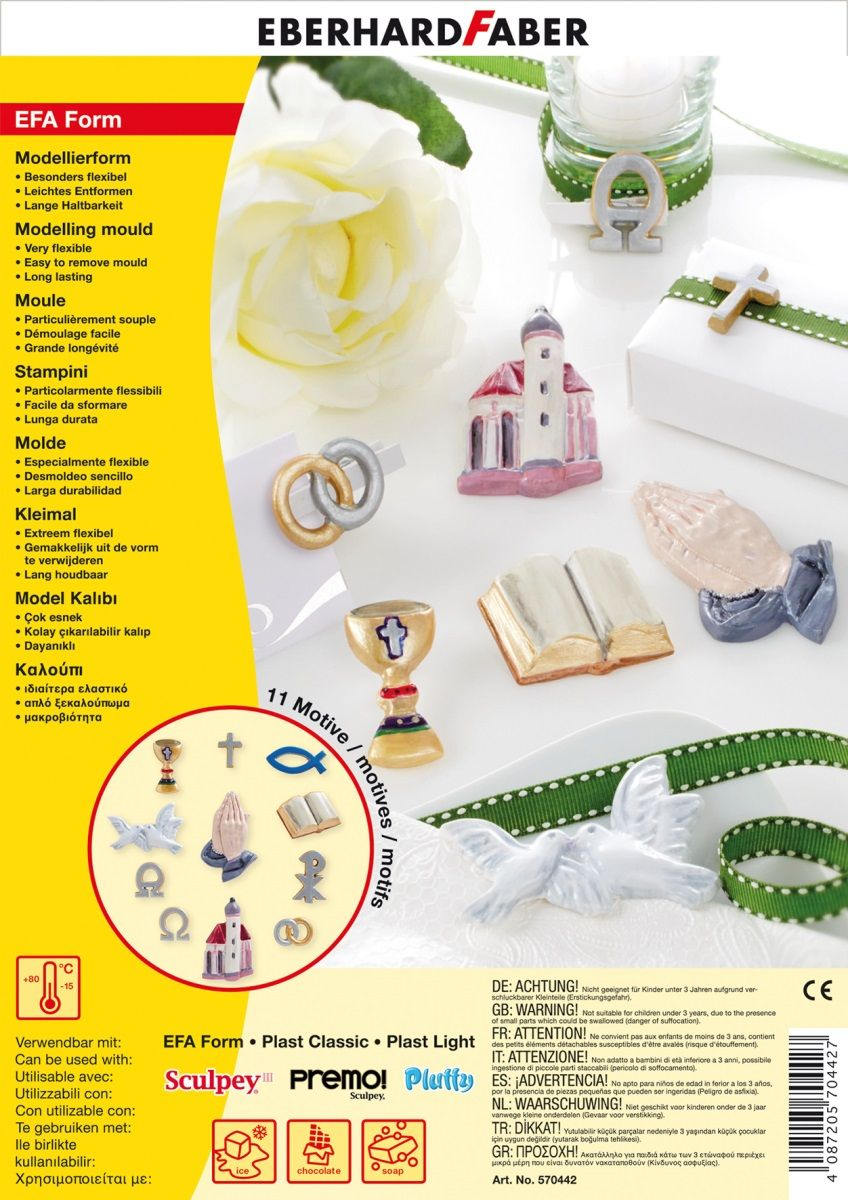 Eberhard Faber Набор формочек для лепки Рождественские символы -  Пластилин
