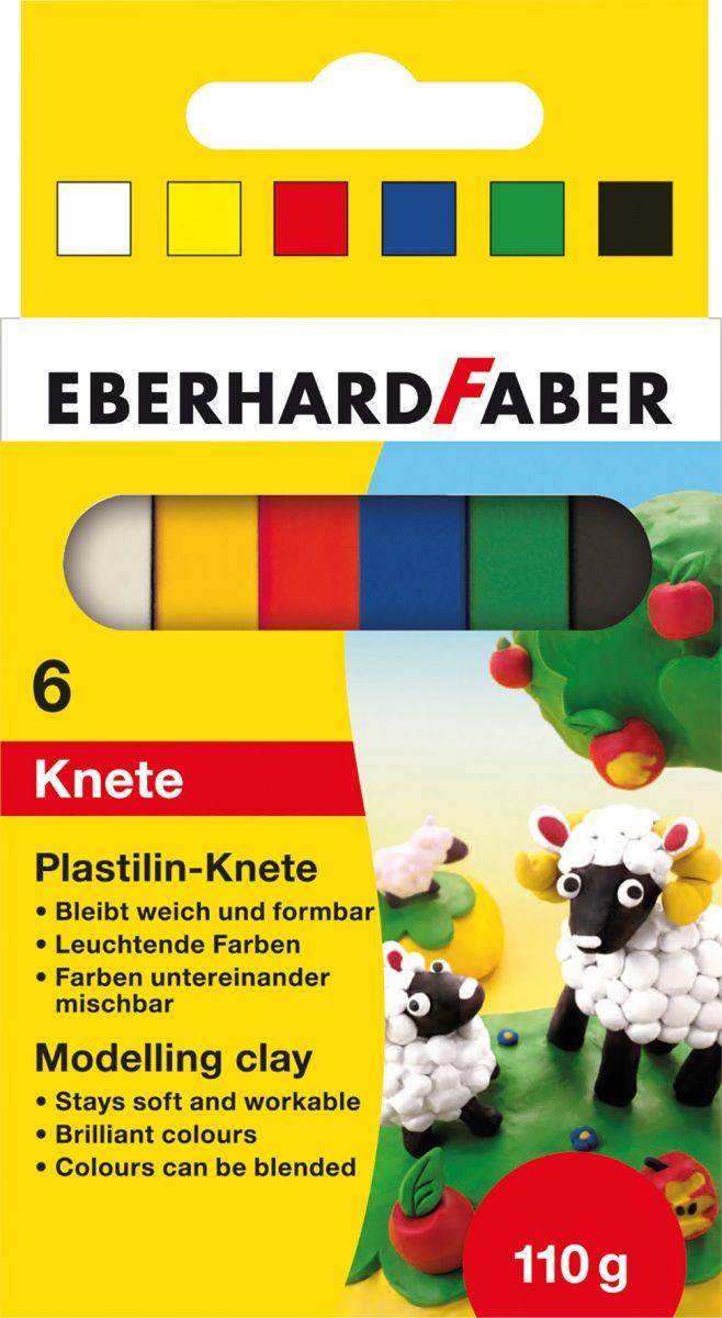 Eberhard Faber Пластилин 6 цветов 110 г513500Пластилин Eberhard Faber отлично подойдет для развития мелкой моторики и воображения у ребенка.В комплект входит пластилин шести ярких и насыщенных цветов. Все цвета очень хорошо смешиваются, легко разминаются и меняют форму.Лепка - очень полезное занятие для малышей с раннего возраста. Она развивает мелкую моторику, помогает легко изучить формы и цвета.