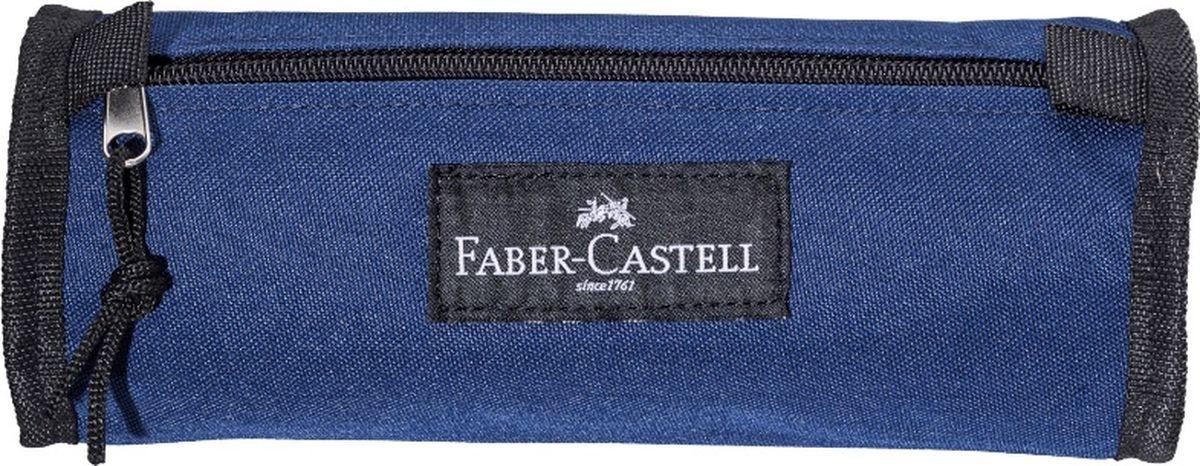 Faber-Castell Пенал цвет синий 57355272523WDПенал Faber-Castell станет не только практичным, но и стильным аксессуаром для любого школьника или студента. Пенал в форме цилиндра выполнен из прочного материала и состоит из одного вместительного отделения, закрывающегося на застежку-молнию. Язычок на застежке-молнии дополнен текстильной петлей.Такой пенал станет незаменимым помощником не только для учащихся, но и для художников, с ним письменные и художественные принадлежности всегда будут под рукой и больше не потеряются.