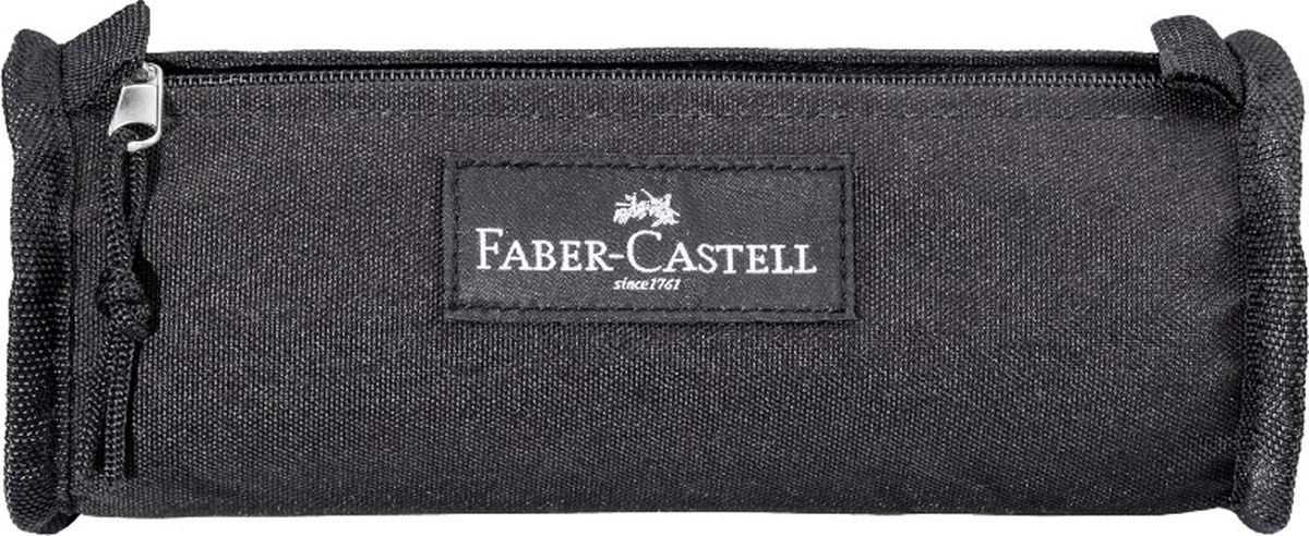 Faber-Castell Пенал цвет черный 57359972523WDПенал Faber-Castell станет не только практичным, но и стильным аксессуаром для любого школьника или студента. Пенал в форме цилиндра выполнен из прочного материала и состоит из одного вместительного отделения, закрывающегося на застежку-молнию. Язычок на застежке-молнии дополнен текстильной петлей.Такой пенал станет незаменимым помощником не только для учащихся, но и для художников, с ним письменные и художественные принадлежности всегда будут под рукой и больше не потеряются.