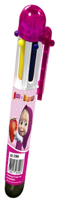 Маша и Медведь Ручка шестицветная72523WDВ учебе часто требуется много разноцветных ручек, которые занимают лишнее место в пенале и прибавляют вес и без того тяжелому рюкзаку. Решить эту проблему поможет многоцветная автоматическая ручка с забавными героями мультфильма Маша и Медведь: с ней не потребуется носить с собой много ручек, так как в ней уже есть 6 основных цветов, которые могут потребоваться в учебе (красный, зеленый, фиолетовый, желтый, синий, черный). Шариковая автоматическая ручка имеет удобную форму и нажимной механизм.Состав: ПВХ, пластик, чернила.