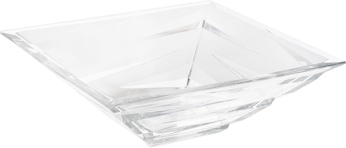 Салатник Crystal Bohemia, 28,5 х 28,5 х 9,5 см115510Салатник Crystal Bohemia выполнен из прочного высококачественного хрусталя квадратной формы и декорирован рельефом. Он излучает приятный блеск и издает мелодичный звон. Салатник сочетает в себе изысканный дизайн с максимальной функциональностью. Он прекрасно впишется в интерьер вашей кухни и станет достойным дополнением к кухонному инвентарю. Салатник не только украсит ваш кухонный стол и подчеркнет прекрасный вкус хозяйки, но и станет отличным подарком.
