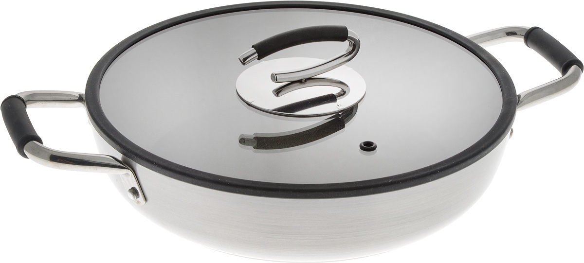 Сотейник TVS Splendida с крышкой, с антипригарным покрытием. Диаметр 28 смFS-91909Сотейник TVS Splendida выполнен из утолщенного алюминия с антипригарным минеральным покрытием Toptek Pro. Такое покрытие необычайно легко чистится, идеально подходит для повседневного использования. Алюминиевый корпус гарантирует великолепное распределение тепла и равномерное пропекание. Стеклянная крышка позволяет следить за процессом приготовления пищи, оснащена пластиковой ручкой, пароотводом и силиконовым ободом.Идеально подходит для газовых, электрических,стеклокерамических и индукционных плит.Можно мыть в посудомоечной машине. Диаметр сотейника (по верхнему краю): 28 см.Ширина сотейника (с учетом ручек): 40,5 см.Высота стенки: 6,5 см.