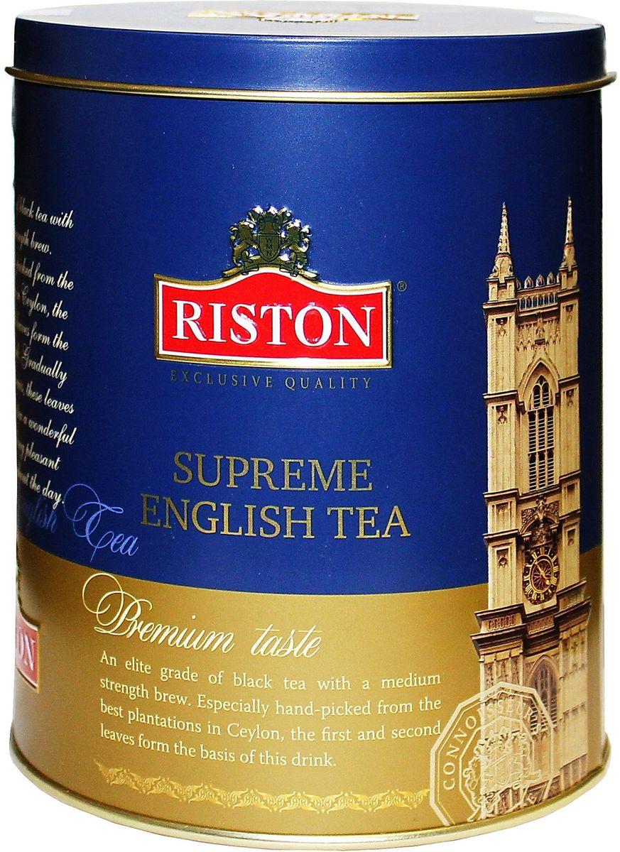 Riston OPA суприм английский чай черный листовой, 100 г0120710Элитный сорт черного крупнолистового чая средней крепости. Специально отобранные с лучших плантаций Цейлона, первые и вторые листочки образуют основу этого напитка. Постепенно завариваясь, эти листья придают чаю чудесный аромат и долгое приятное послевкусие на протяжении дня.