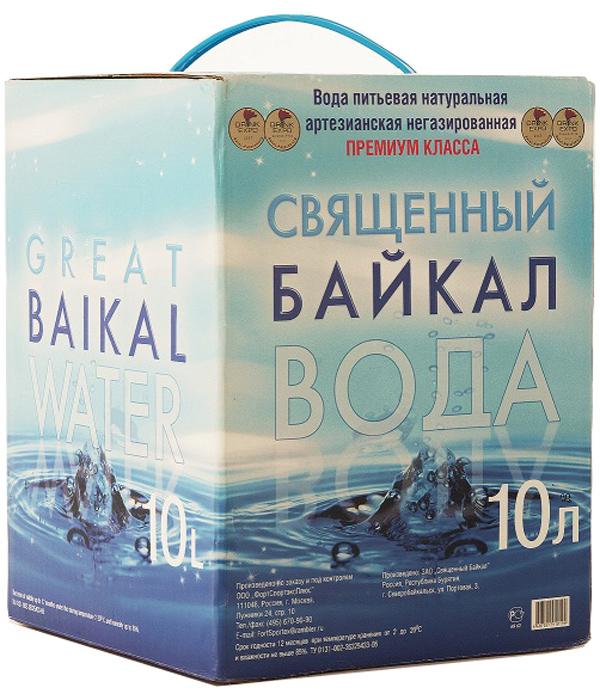 Священный Байкал вода питьевая природная негазированая, 10 л0120710Уникальная по чистоте и великолепная на вкус натуральная питьевая вода Священный Байкал добывается из скважины глубиной 150 м в северной части озера Байкал, окружённой на 600 км девственной тайгой. Прозрачность и сбалансированный состав воды делают Священный Байкал символом качества продукта международного уровня. Рекомендовано НИИ экологии человека и гигиены окружающей среды им. Сысина РАМН для детей и взрослых.